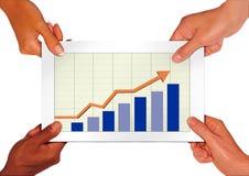 De grafiek van de winst Stock Fotografie