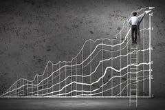 De grafiek van de zakenmantekening Stock Fotografie