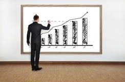 De grafiek van de zakenmantekening Royalty-vrije Stock Foto