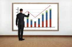 De grafiek van de zakenmantekening Royalty-vrije Stock Fotografie