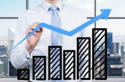 De grafiek van de zakenmantekening Royalty-vrije Stock Foto's