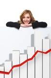 De grafiek van Finace Royalty-vrije Stock Afbeelding