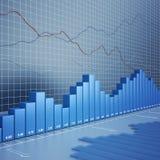 De grafiek van financiën Stock Foto