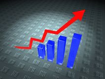 De Grafiek van gegevens stock illustratie