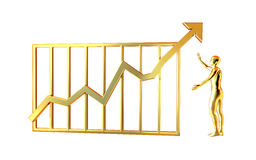 De grafiek van gegevens Royalty-vrije Stock Fotografie
