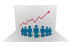 De grafiek van het bedrijf, vector Stock Afbeeldingen