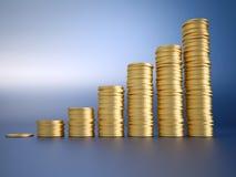 De grafiek van het geld Royalty-vrije Stock Afbeeldingen