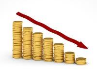 De Grafiek van het geld Royalty-vrije Illustratie