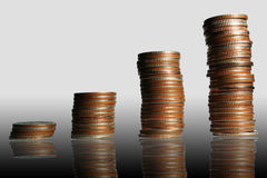 De grafiek van het geld, Stock Fotografie
