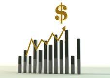 De Grafiek van het geld Stock Foto