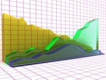 De grafiek van het glas â1 Royalty-vrije Stock Foto's