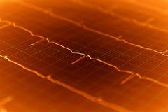 De grafiek van het hart ECG op papier Stock Afbeelding