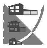 De grafiek van het huis Stock Foto