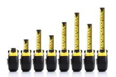 De grafiek van het meetlint Stock Afbeeldingen