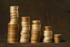 De grafiek van het muntstuk royalty-vrije stock foto