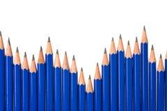 De grafiek van het potlood stock fotografie
