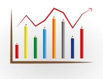 De grafiek van het potlood Royalty-vrije Stock Fotografie