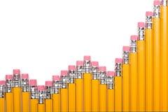 De grafiek van het potlood stock foto's