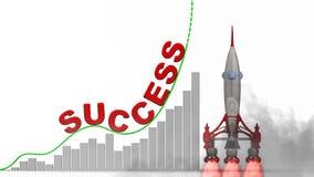 De grafiek van het succes royalty-vrije illustratie