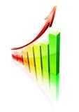 De grafiek van het succes Stock Fotografie
