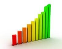 De grafiek van het succes Stock Afbeelding