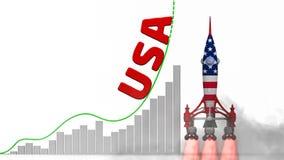 De grafiek van het succes van de V.S. royalty-vrije illustratie