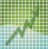De Grafiek van het Verlies van de winst Stock Fotografie