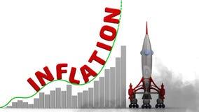 De grafiek van de inflatiegroei stock illustratie