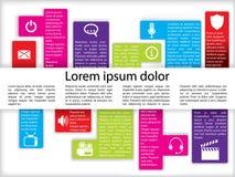 De grafiek van info met pictogrammen Royalty-vrije Stock Foto