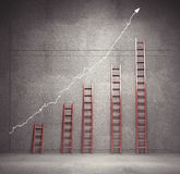 De grafiek van ladders Stock Afbeelding