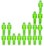 De grafiek van mensen royalty-vrije illustratie