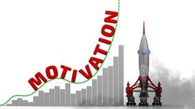 De grafiek van de motivatiegroei vector illustratie