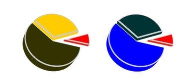 De grafiek van percenten Royalty-vrije Stock Foto's