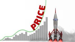 De grafiek van de prijsgroei royalty-vrije illustratie