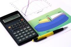 De grafiek van Raport Stock Foto