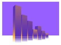 De grafiek van statistieken Royalty-vrije Stock Foto