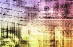 De Grafiek van Technologie van de Spreadsheet van financiën Royalty-vrije Stock Foto's