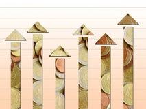 De grafiek van veranderingen royalty-vrije illustratie
