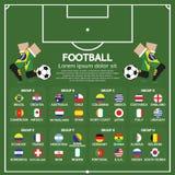 2014 de Grafiek van voetbaltoernooien Stock Afbeelding