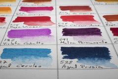 De grafiek van de waterverfkleur stock afbeeldingen