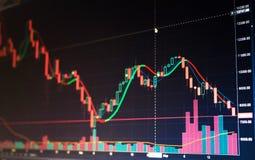 De grafiek van de wereldeconomie Conceptuele mening van uitwisselingsmarkt stock foto