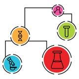 De Grafiek van wetenschapsgegevens Royalty-vrije Stock Fotografie