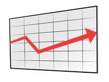 De grafiek vectorillustratie van de projectie Stock Afbeelding