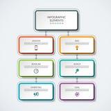 De grafiek vectormalplaatje van het Infographicproces Stock Foto