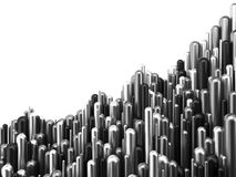 De grafiek zilveren 3d illustratie van het bedrijfsfinanciënsucces royalty-vrije illustratie