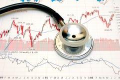 De grafiekanalyse van de voorraad - concept Stock Afbeelding
