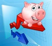 De Grafiekconcept van het spaarvarken Royalty-vrije Stock Fotografie