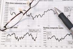 De Grafieken van de Effectenbeurs Royalty-vrije Stock Foto's