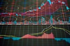 De Grafieken van de markt Royalty-vrije Stock Afbeeldingen