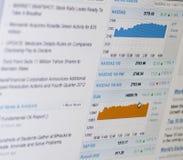 De grafieken van de voorraad royalty-vrije stock foto